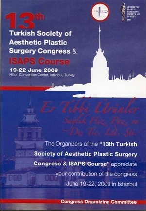 13.Turkish Society of Aeshetic Plastic Surgery Congress - Hilton Convention Center, İSTANBUL