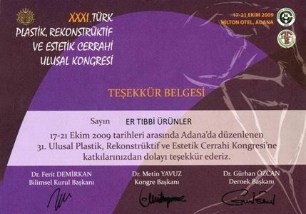 31st Turkish Plastic Reconstructive Esthetic Surgery National Congress-Hilton Hotel / Adana