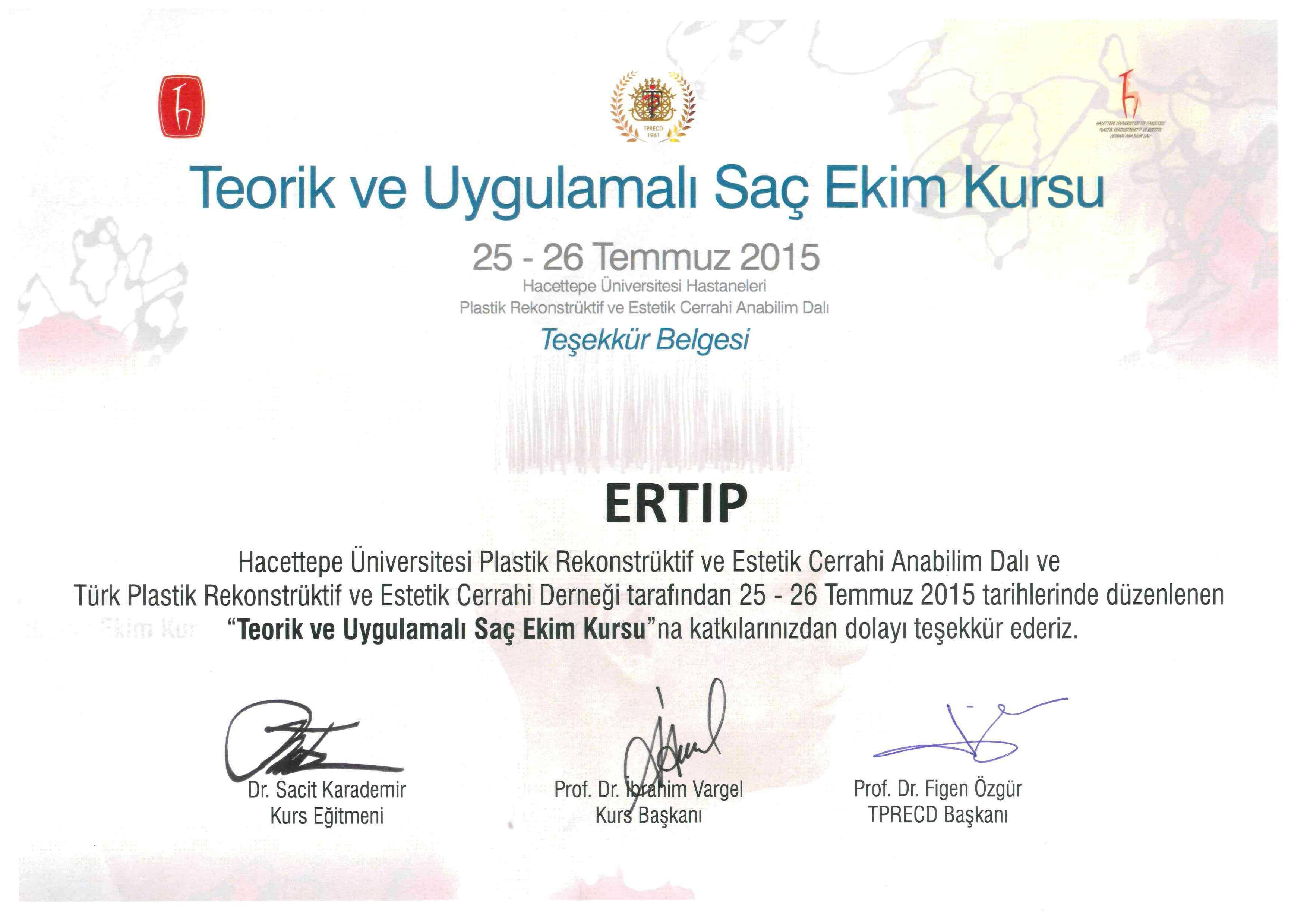 Hacettepe University Medicine Faculty Plastic Reconstructive and Esthetic Surgery Live Surgery Works