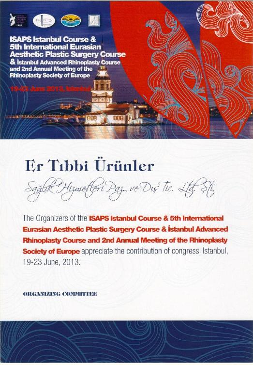 Lütfi Kırdar 2013 ISAPS Istanbul Course & 5th International Eurasian Aesthetic Plastic Surgery Cours