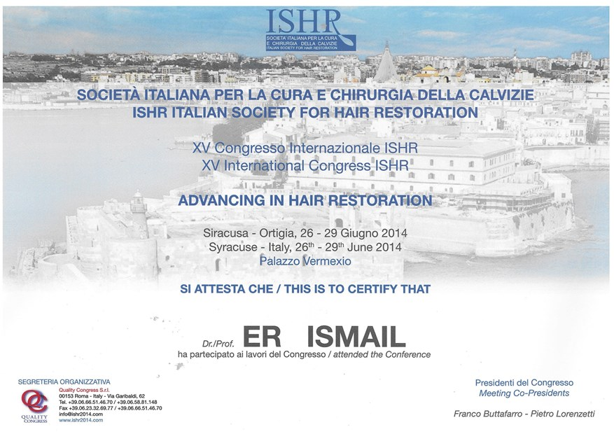 ISHR Italian Society For Hair Restoration June 26-28 2014