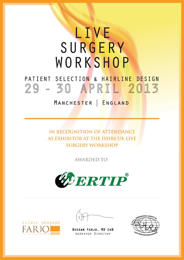 ISHRS Live Surgery Workshop 2013 Manchester-England April 29-30 2013