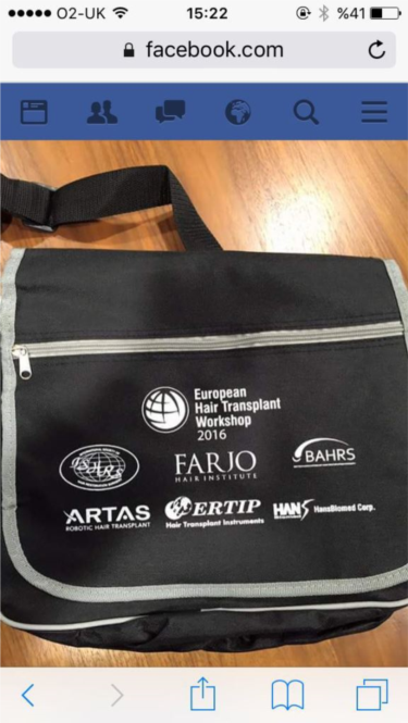 10-12 June 2016 Manchester European Hair Transplant Workshop Farjo Hair Institute