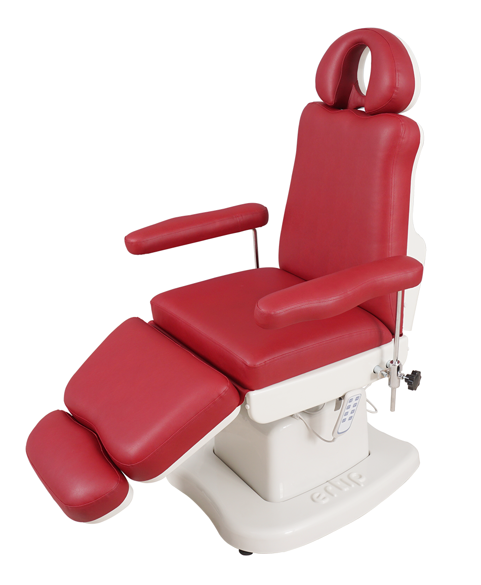ELEGANCE Hair Transplant and Medical Aesthetic Chair (4 Motorized )Claret Red