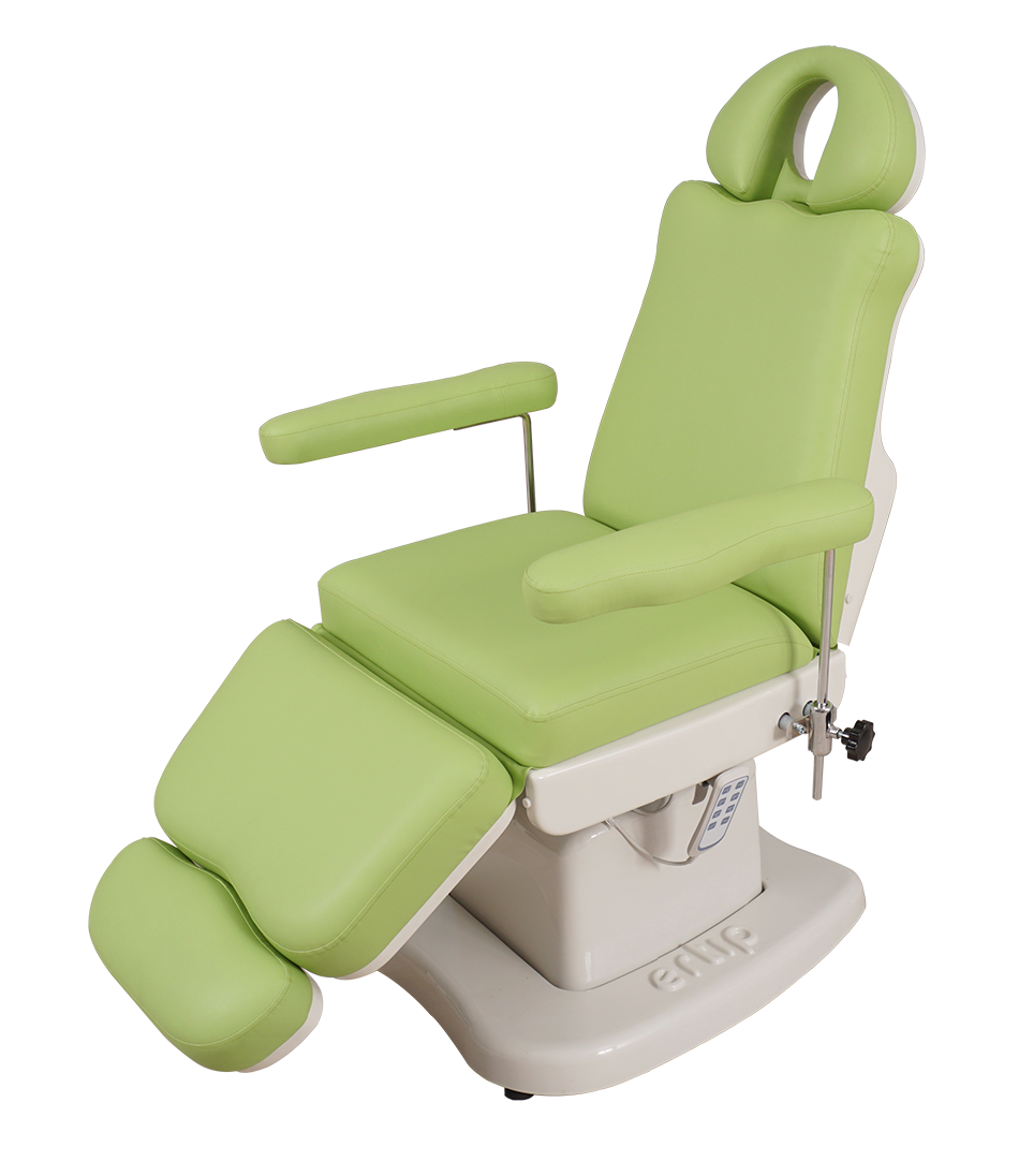 ELEGANCE Hair Transplant and Medical Aesthetic Chair (4 Motorized )Light Green
