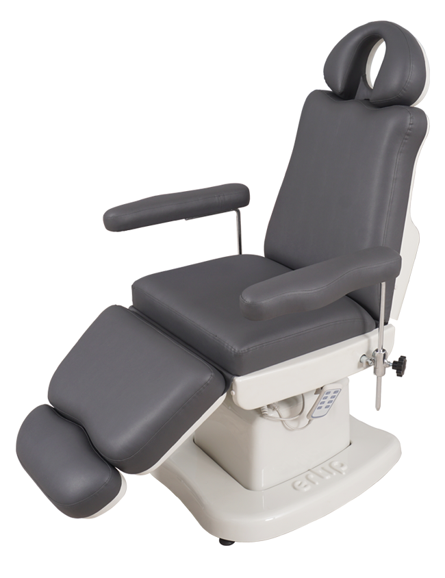 ELEGANCE Hair Transplant and Medical Aesthetic Chair (4 Motorized ) Dark Grey