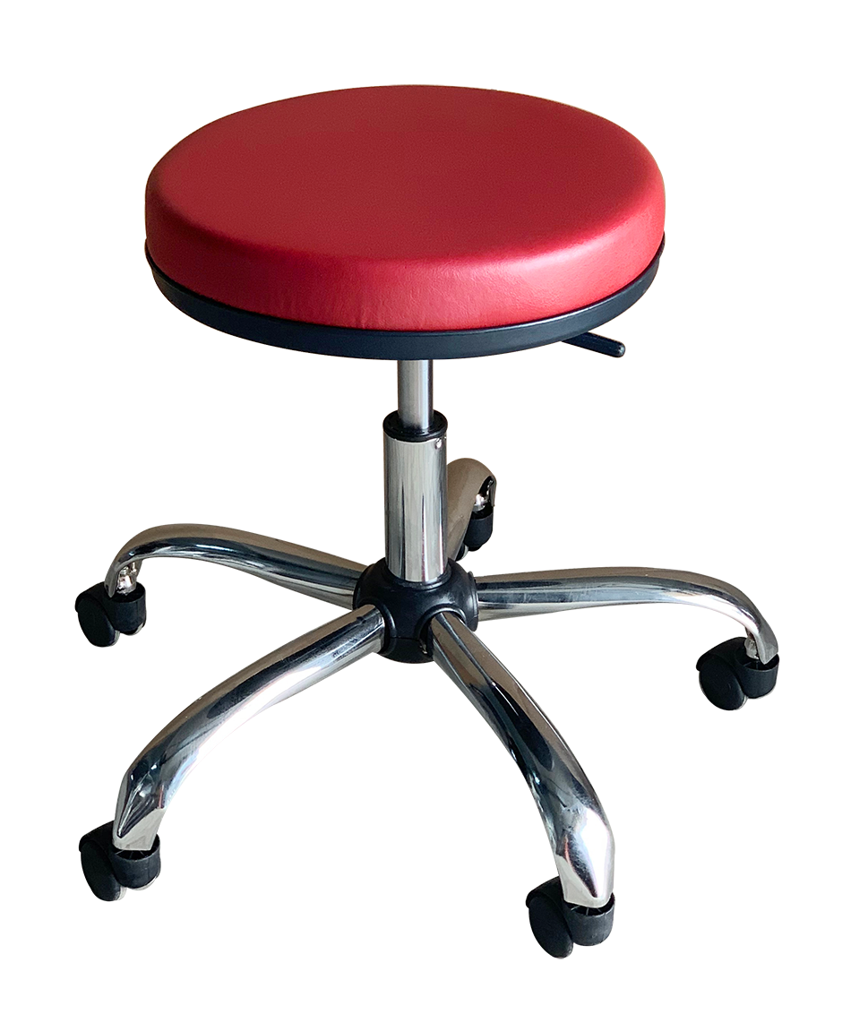 Medical Stool Without Backrest (Claret Red)