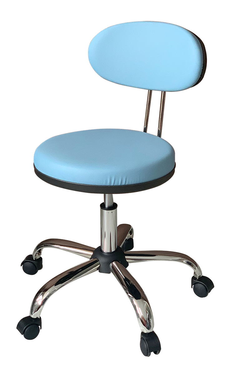 Medical Stool with Oval Backrest ( Blue)