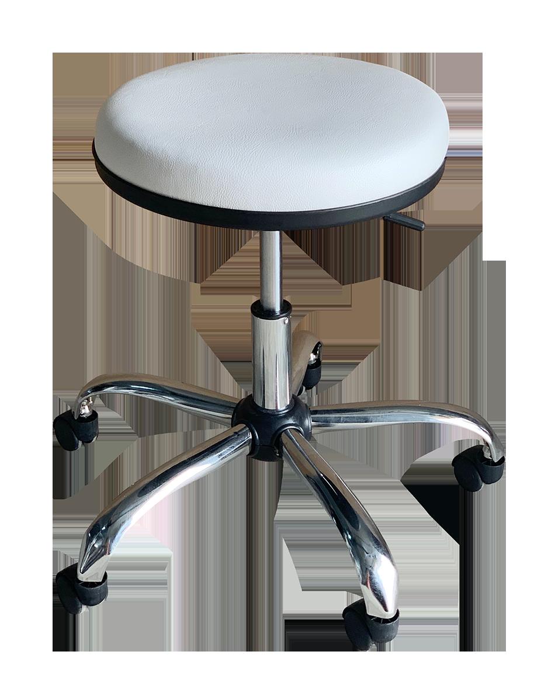 Medical Stool Without Backrest (White)