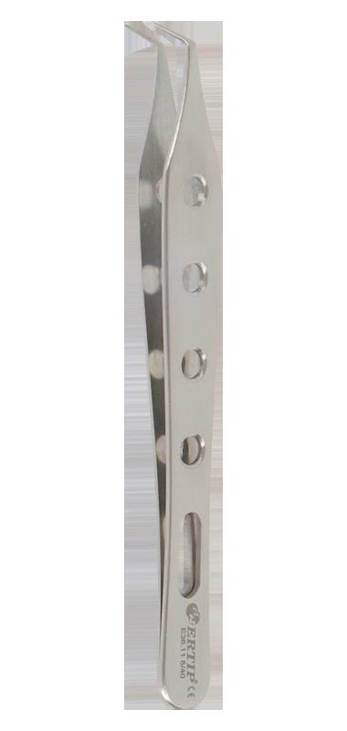 Ertıp Model Yumuşak Baskı Ayarlı  Delikli Tırtıksız Toplama Penseti (8 MM 40°)