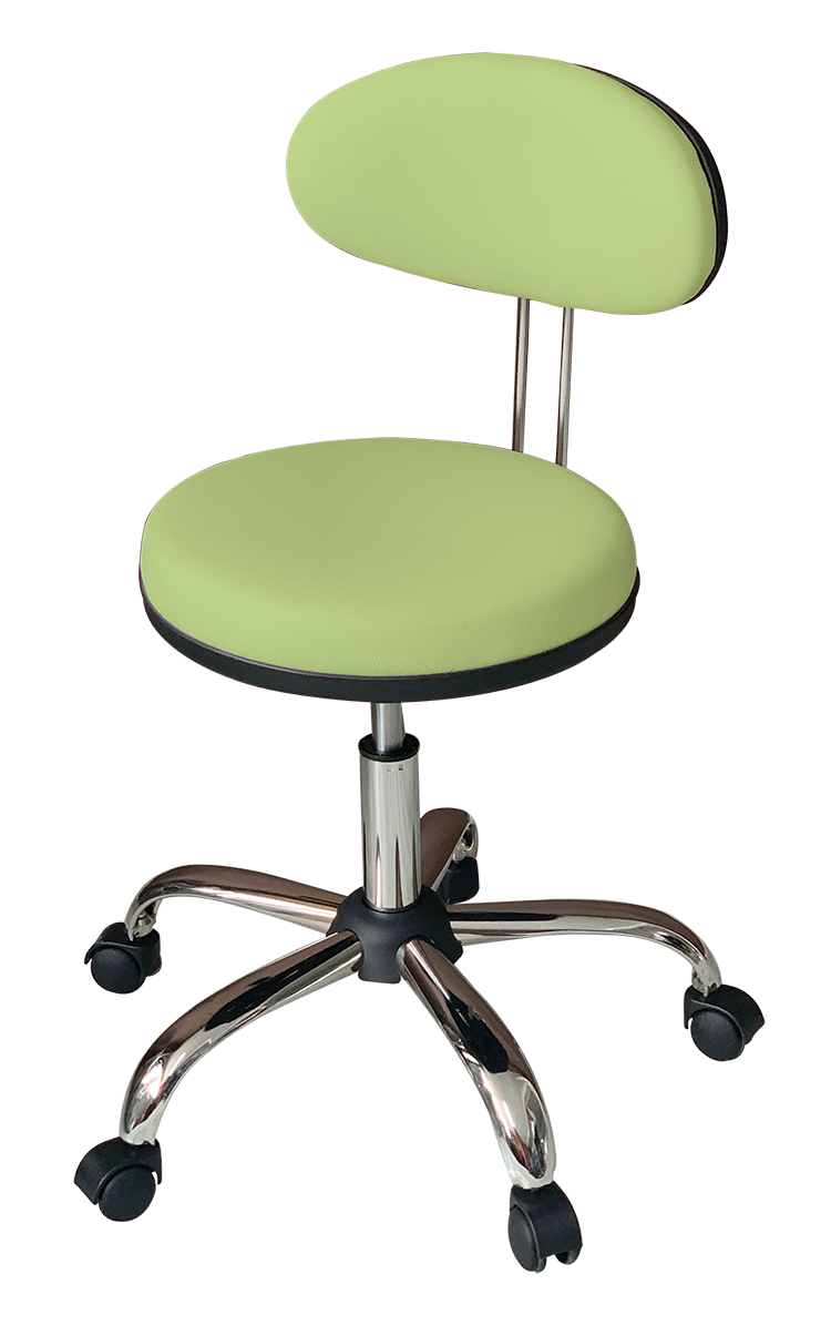 Medical Stool with Oval Backrest ( Light Green)