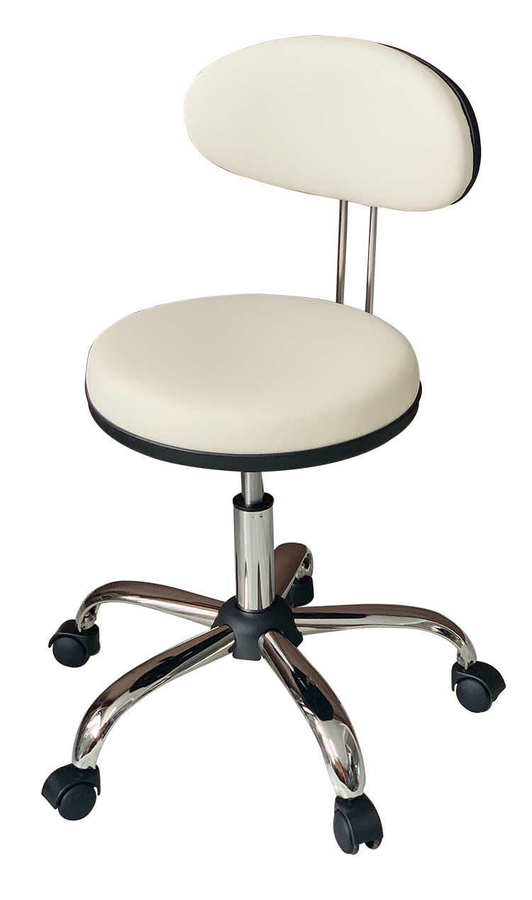 Medical Stool with Oval Backrest ( Beige)