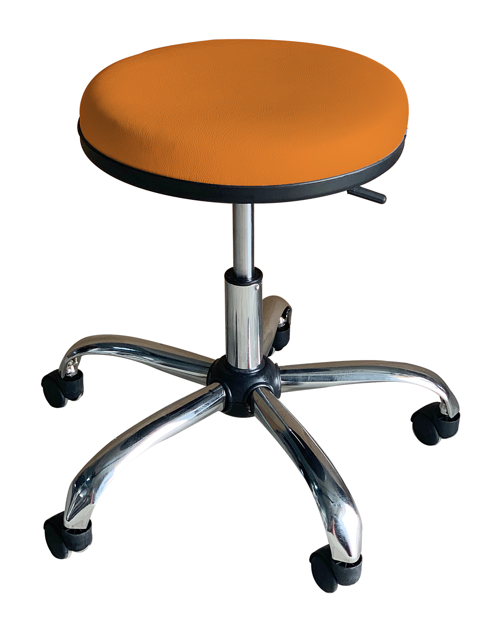 Medical Stool Without Backrest (Orange)